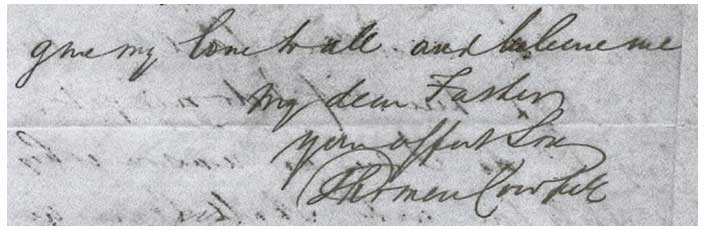Thomas Cowper Letter Sample