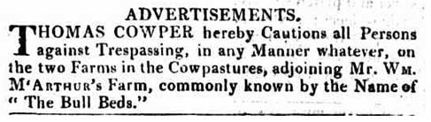 thomas cowper notice trespassing